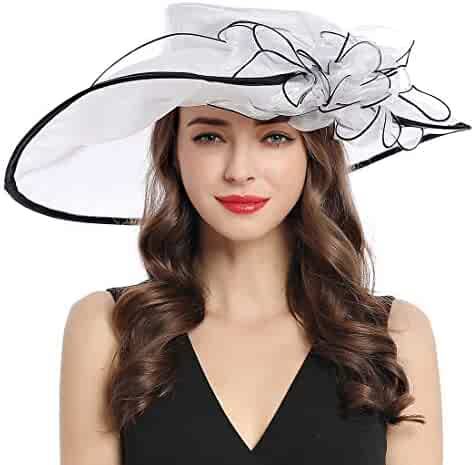 9d7e8000c7529 Women s Organza Church Derby Fascinator Cap Kentucky Tea Party Wedding Hat