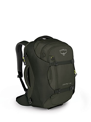 Attache Gray Laptop (Osprey Packs Porter 30 Travel Backpack, Castle Grey, One Size)