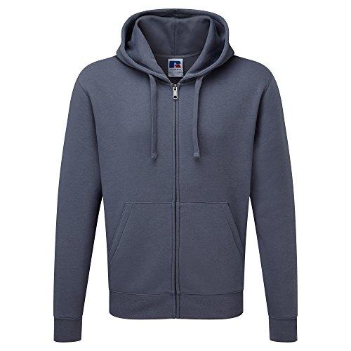 Russell Mens Authentic Full Zip Hooded Sweatshirt/Hoodie (M) (Convoy Grey)