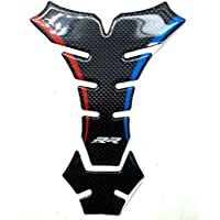 Red Blue Real Carbon 3D Sticker Decal Emblem Protection Tank Pad Gas Cap For BMW S1000RR 2009-2017