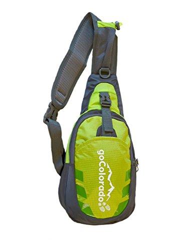 goCOLORADO Sling Backpack Bag Crossbody Shoulder Bag Hiking Daypack for Women Men Kids (Green)