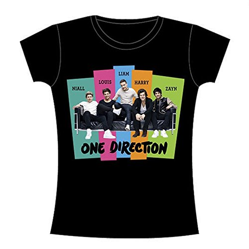 One Direction Stripes Sofa Group Junior Women's T-Shirt