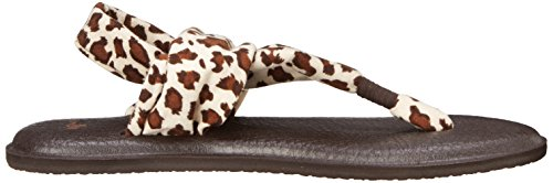 Fionda Yoga Donna Sanuk 2 Ghepardo Marrone Flip Flop