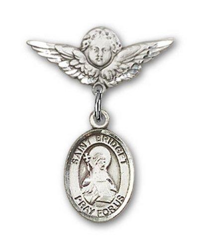 Icecarats Créatrice De Bijoux En Argent Sterling St. Brigitte De Suède Charme Ange Pin Badge 7/8 X 3/4