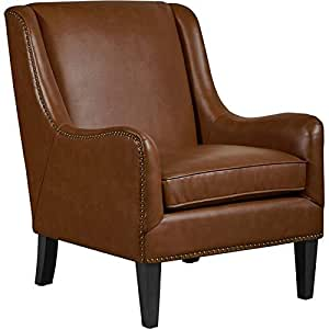 Amazon Com Tommy Hilfiger Andover Leather Accent Chair