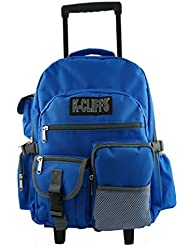 Rolling Backpack Heavy Duty Bookbag Multiple Pocket Student Backpacks w/ Wheels