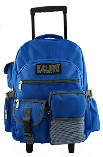 Rolling Backpack Heavy Duty Wheeled School Backpack Delux...