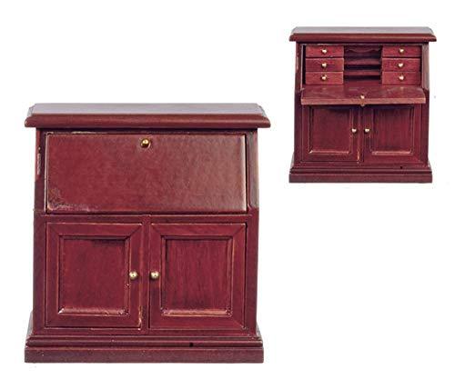 - Melody Jane Dolls Houses House Miniature Study Office Furniture Mahogany Secretary Bureau Desk 1:12