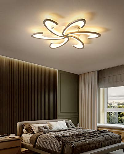 CITRA 6 Light Arc Modern LED Chandelier Ceiling Lamp for Dining Living Room Office - Warm White