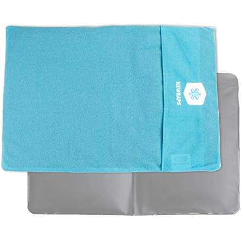 IceWraps Ice Pack Cover for Standard Size Cold Pack Sleeve Keeps Pack Clean and Skin Protected, Reusable, Washable - Blue Fabric Cover Only (Frostbite Ice)