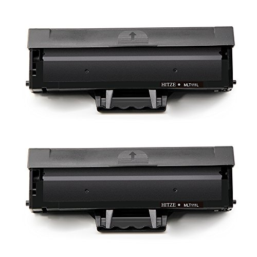 Hitze Compatible Toner Cartridge Replacement for Samsung MLT-D111L MLT-D111S 111S 111L High Yield Black Toner (2 Pack) Used with Samsung Xpress SL-M2020W SL-M2020 SL-2070FW SL-2070W SL-2022W SL-2022FW (111 Black Toner Cartridge)