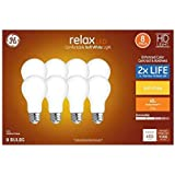 GE Relax 8-Pack 40 W Equivalent Dimmable Warm White A19 LED Light Fixture Light Bulbs 44898