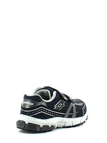 Lotto - Zapatos de cordones de Piel para niño Azul azul Azul