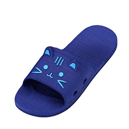 Männer Bad Sommer Outdoor Flat Hausschuhe Clode® Hausschuhe 44 Sandalen Indoor Lattice Dunkelblau amp; wdaXAqt