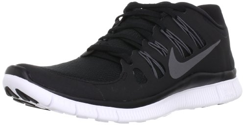 Nike Men's Free 5.0+ Breathe Running Black / Metallic Dark Grey / White Synthetic Shoe - 8.5 D(M) US