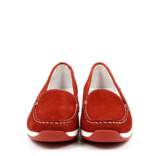 Swissies Women Moccasins, 4/129, JESSICA Red
