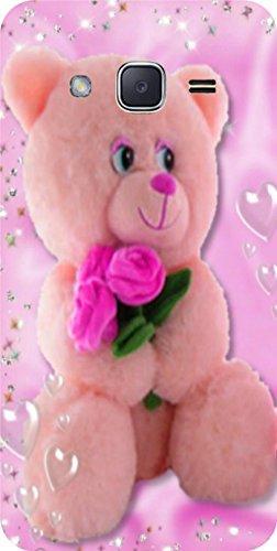 Shengshou Teddy Bear Design Mobile Back Cover for Samsung Galaxy J2 2015   Pink Green