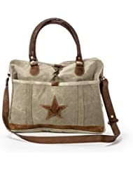 Josette - Handmade Messenger Bag with Star From The Barrel Shack