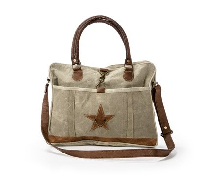 Josette - Handmade Messenger Bag with Star From The Barrel Shack by The Barrel Shack