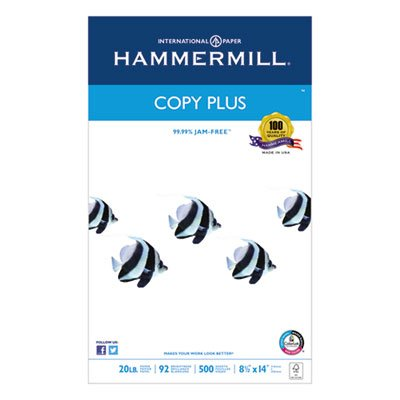 Copy Plus Copy Paper, 92 Brightness, 20lb, 8-1/2 x 14, White, 500 Sheets/Ream, Sold as 2 Ream by Hammermill (Image #3)