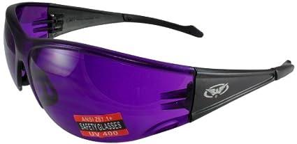 4bb5449492 Amazon.com  Global Vision Full Throttle Glasses (Black Frame Purple ...