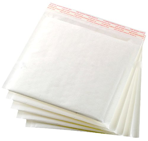 White Kraft bubble mailers. Padded envelopes CD size. Usable size 7 1/4 x 7 ( 7.25 x 7 ). Outside size 7 1/4 x 8 ( 7.25 x 8 ). - Is Usps Standard What Shipping
