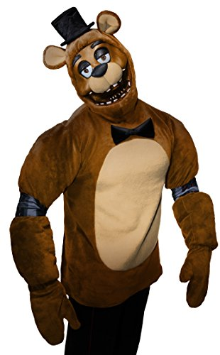 Rubie's Men's Five Nights Adult Freddy Costume, Multi, (Five Nights At Freddy's Costumes For Halloween)