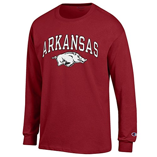 - Elite Fan Shop Arkansas Razorbacks Long Sleeve Tshirt Varsity Cardinal - M