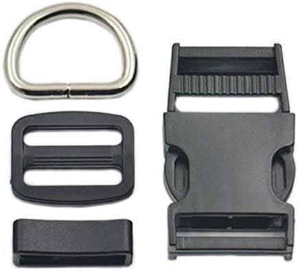 1 25mm Adjuster Triglides Buckle Hook Clip D Ring Side Release Dog Collar Craft 01 Bluemoona 2 sets