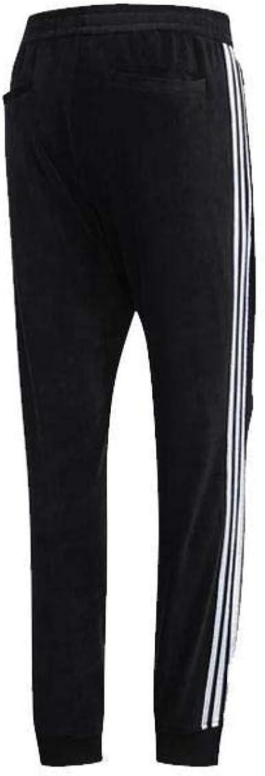 adidas Mens Velour Track Pants HAGT Black/Blue DZ9234: Amazon.es ...