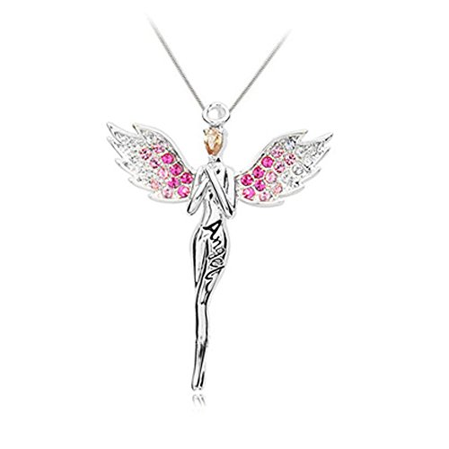 [Angel Blessing Collarbone Chain Angell Shape Pendant Necklace for Women