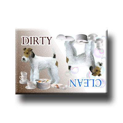 Wire Fox Terrier Dishwasher Magnet (Club Terrier)