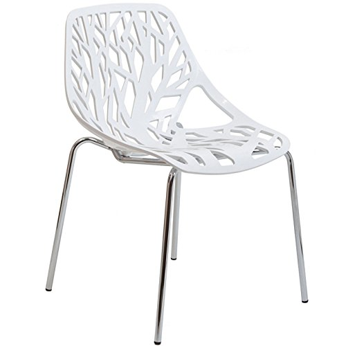 Modern Dining Chair, White, Outdoor and Indoor by America Luxury - Chairs