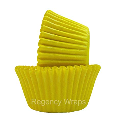 Regency Wraps Greaseproof Baking Cups, Solid Yellow, 40-Count, Standard. -