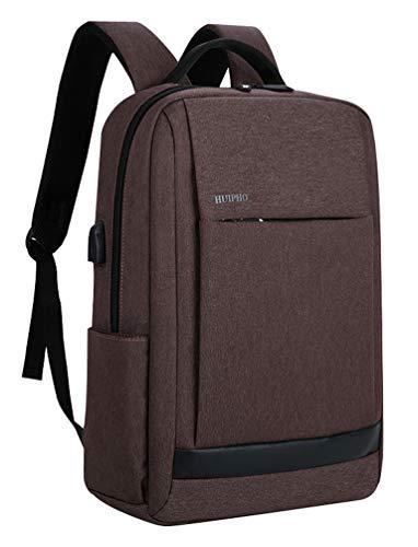 D'étudiant Pc L'école Brown Business D'ordinateur Port Portable Noir Pouces Backpack Avec 2 Femme Travail Homme Sac 14 Laptop A 15 Usb Collège Ordinateur Voyage Dos À Casual cc10gT8