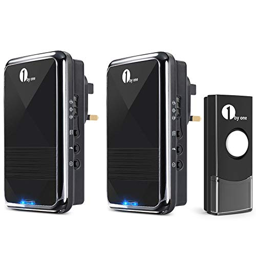 1 BY ONE Easy Chime Wireless Doorbell Door Chime...