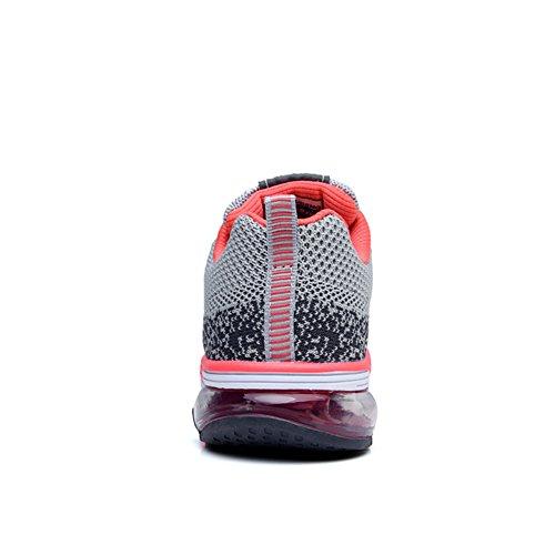 Sneakers Air Leichtes Sportschuhe Damen Herren Grau Profilsohle Turnschuhe Schuhe Laufschuhe TORISKY 0xqETwR6