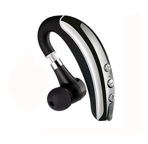 Zogo Bluetooth Headset with Noise Reduction Mic for Cell Phones (Black)