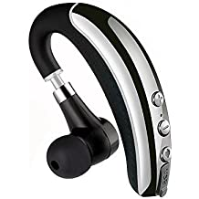 Bluetooth Headset, Zogo Hands Free Wireless Bluetooth Earpiece with Noise Reduction with Mic for Cell Phone (Black)
