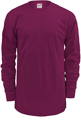 t Cotton Long Sleeve Shirt (L, Maroon) ()
