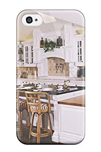 Brand New 4/4s Defender Case For Iphone (white Kitchen With Decorative Tile Backsplash)