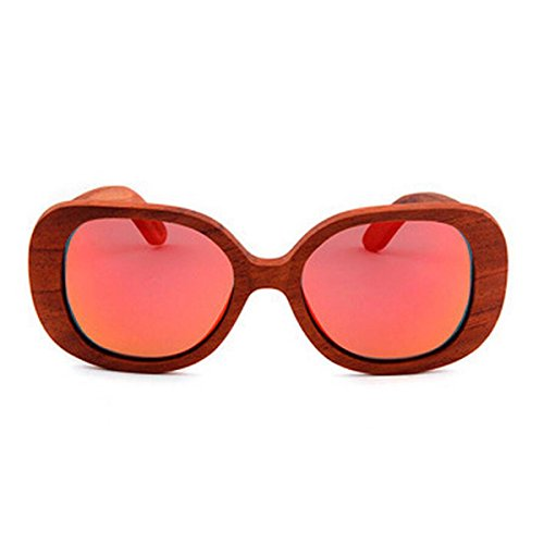 Uv Moda Polarizadas Caja Vidrios 4 Color D La De Grande Retro Sol Del Los Chengxiaoxuan Madera Gafas CqtTfv5w