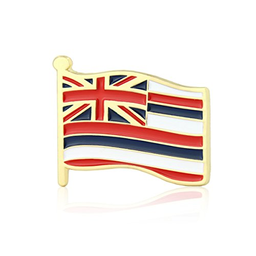 GS-JJ Hawaii Flag Enamel Lapel Pin (5 Pack)
