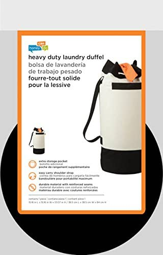 HoneyCanDo LDY03277 ExtraCapacity Laundry Duffle Bag with Carrying Strap