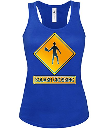 SQUASH CROSSING mujer camiseta Tamaño S to XXL varios colores S-XL Azul / Blanco