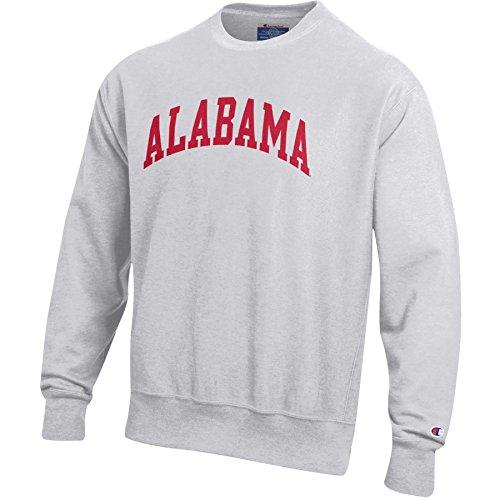 Champion Men's Reverse Weave Crew Neck Sweat Shirt, Silver/Grey, -