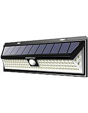 Mpow 【102 LED 2200 mAh】 Lampe Solaire Extérieur Etanche IP65 Puissante Détecteur de Mouvement 3 Modes d'éclairage 270° Grand Angle LED Solaire pour Jardin, Escalier, Patio, Garage, Cour, Allée, Mur