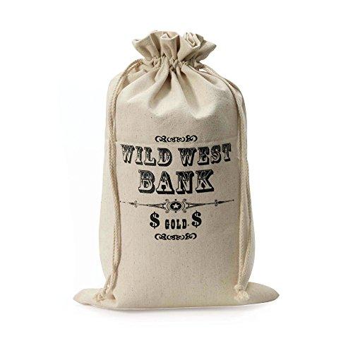 Bristol Novelty BA963 Wild West Money Bag, One Size -