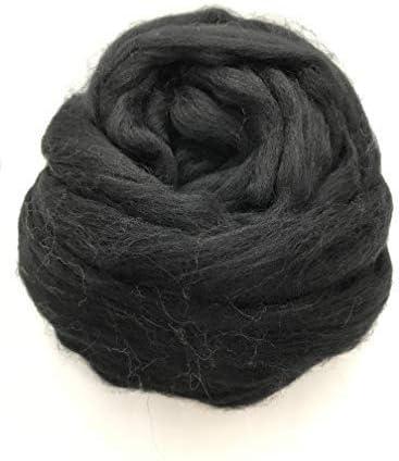 2lb Felting Crafts USA Sheps Natural White Merino Wool Top Roving Fiber Spinning