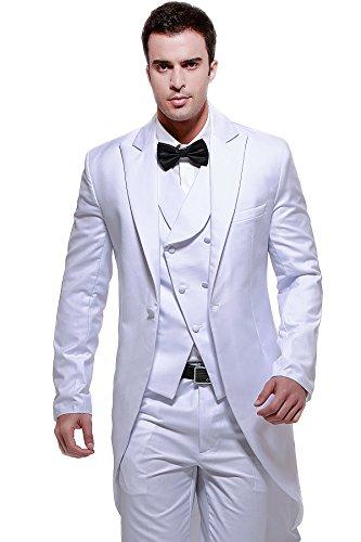 White 3 Piece Suit - 4